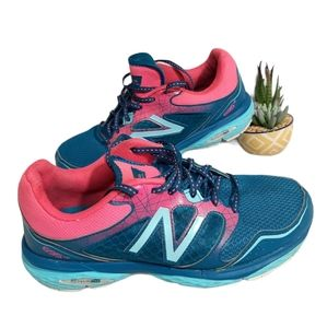 New Balance 695 Pink Blue Running Sneakers 8.5